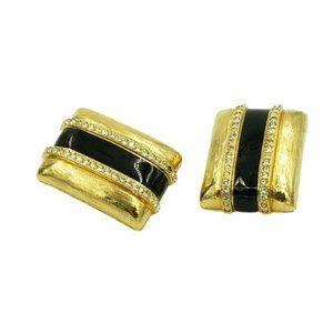 Swarovski Huge Clip On Earrings